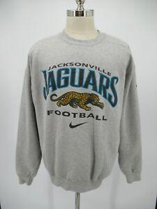 L7024 VTG Nike NFL Pro-Line Jacksonville Jaguars Football Sweatshirt Size XL