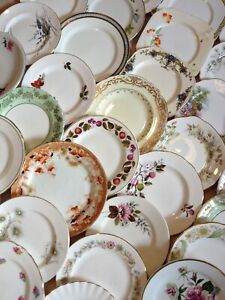 Vintage Mismatched Job Lot of 10 Side / Tea Plates - Perfect for tea parties