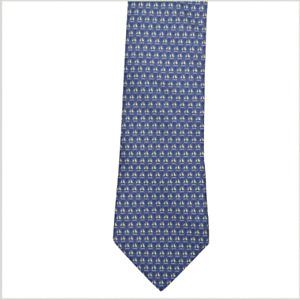 HERMES  silk tie 7841 UA blue ships excellent condition ref GC