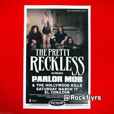 Pretty Reckless 2012 Original 11x17 Street Poster. Seatte Wa. Taylor Momsen