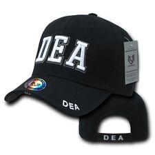 Black Drug Enforcement Administration DEA Law Enforcement Baseball Ball Cap Hat