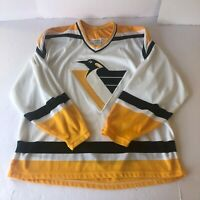 Pittsburgh Penguins CCM NHL Hockey Jersey Yellow White Black Mens Size XL