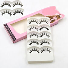 5 Pairs Soft Long Makeup Cross Thick False Eyelashes Eye Lashes Nautral Handmade