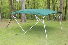 NEW VORTEX SQUARE TUBE FRAME 4 BOW PONTOON/DECK BOAT BIMINI TOP 12' GREEN 97-103
