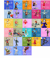ADULT BIRTHDAY Greeting Card~Fun & Quirky~18th 21st 30th 40th 50th 55th 60th-100