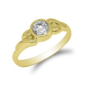 Jamesjenny Women 10K/14k Gold .46 Ct Embedded Twisted Round Ring Size 4-10
