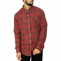 BRIXTON Mens Howl Long Sleeve Flannel Shirt | Brick/Steel - Size Small, XL, XXL