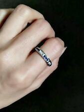 Libra 8# ring twelve constellations outer turning 925 sterling silver