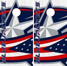 Columbus Blue Jackets Cornhole Wrap NHL Logo Game Skin Set Vinyl Decal CO232