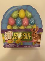 Easter Egg Sticker Hunt Kit 16 Eggs with stickers! Brand New No Damage!