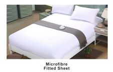 White  Microfibre Fitted Sheet Long single size, for split King Adjustable bed