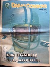""" NFL Dallas Cowboys Official Weekly Magazine November, 25, 1978; Vol. 4, No. 24"