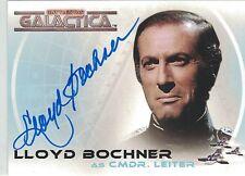Battlestar Galactica Classic A5 Lloyd Bochner autograph
