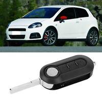 3Button Car Remote Flip Key Fob Case Cover Shell for FIAT GRANDE PUNTO 500 BRAVO