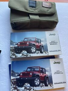 2007 Jeep Wrangler owners manual with Canvas Case SET Books Used OEM Guide
