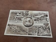 1950s fr real photographic postcard- Happy days at Lancing -Arun Sussex