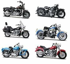 6PC HARLEY DAVIDSON MOTORCYCLE SET SERIES 27 1/18 BY MAISTO 31360-27