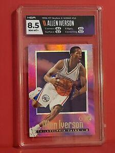 1996-97 Skybox E-X2000 #53 Allen Iverson Philadelphia 76ers RC Rookie HGA 8.5