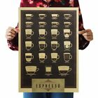 Espresso coffee shop kraft paper retro poster new home decorating