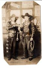 1928rppc real photo postcard cowboys chaps booze guns fake bar Akron, Oh.Id'd