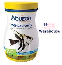 Aqueon Tropical Fish Food Flakes Natural Colors Ingredients Nutrition Vitamins