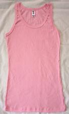 NEW Bella Ladies Sheer Rib Tank Top Longer Length Shirt Pink XL