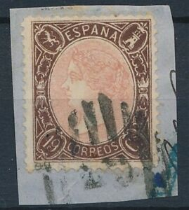 [52808] Spain 1865 Rare Used Very Fine signed stamp on paper $3000