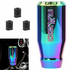 Auto Car Aluminium Automatic Manual Gear Shift Knob Shifter Head Handle Rainbow