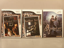 Resident Evil Archives: Resident Evil, Resident Evil 0 and 4 (Wii) All three NEW
