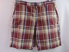 Gap Longer Length Plaid Straight Leg Shorts Men's Size 33