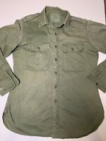 Yakka 1969. Australian Army Shirt. Vietnam War. Jungle Green. 15 x 33 Damaged
