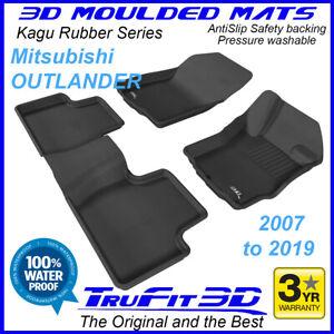 Fits Mitsubishi Outlander 2007 - 2021 3D Rubber Car Floor Mats  2R