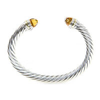 DAVID YURMAN Cable Classic Bracelet with Citrine & 14K Gold 7mm $775 NEW