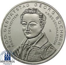 Deutschland 10 Euro Gedenkmünze 2013 bfr. Georg Büchner Münze in Münzkapsel