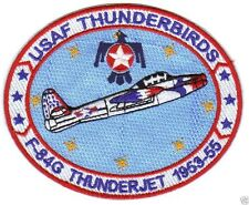 USAF THUNDERBIRDS PATCH, F-84G THUNDERJET, 1953-1955                           Y