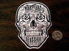 FATAL CREW Sugar Skull Sticker Car Window Decal West Coast Skate Tattoo So Cal