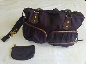 MZ WALLACE Kate amethyst handbag travel bag  USED