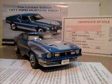 New ListingDanbury Mint 1971 Mustang Mach 1.1:24.Rare Le.Nos.Docs.Undisplayed.M int