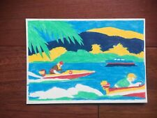 VTG VENUS PARADISE COLOR BY NUMBERS? SPEED BOAT PICTURES