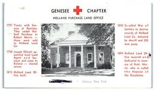 1950 Genessee Chapter, Holland Purchase Land Office, Batavia, NY Postcard