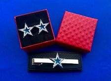 Dallas Cowboys Tie Clip & Cufflinks Set Cowboy Logo Gift Set Gift Idea (New)