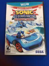 Sonic & All-Stars Racing Transformed (Nintendo Wii U, 2012)