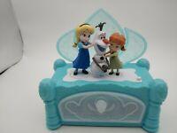 "DISNEY FROZEN ELSA/ANNA/OLAF ""BUILD ME A SNOWMAN"" JEWELRY MUSIC BOX"