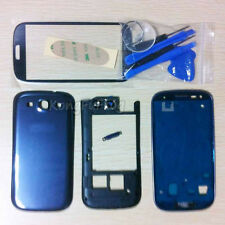 Housing Case + Screen Glass + Tools Replacement For Samsung Galaxy S3 i9300 Blue