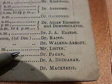 GLASGOW UNIVERSITY 1862   HISTORICAL GEM  JOSEPH LISTER  SURGEON MEDICAL MEDIC