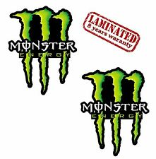 2 x Monster Vinyl Stickers Decal Motorcycle Bike Tuning Racing Helmet Car B 58