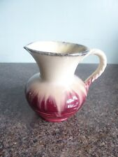 German - Drip Glaze - Rope Handle Jug - Lovely Deep Pink Colour - no. 588
