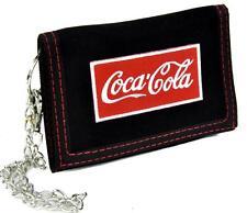 Coca Cola Soda Pop Tri-fold Wallet with Chain Alternative Clothing Fountain Coke