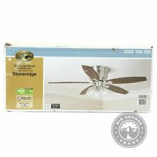 OPEN BOX Hampton Bay 52 in. LED Indoor Hugger Ceiling Fan in Brushed Nickel