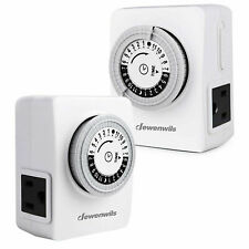 DEWENWILS 2 pack Indoor Outlet Timer Plug in Mechanical Light Timer HIMT12W
